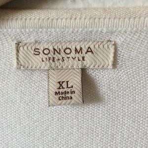 Sonoma Sweaters - (3 FOR $20 SALE) Sonoma White Cardigan